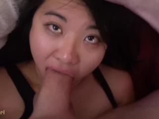 18 Yr Old AMATEUR got her THROAT Assaulted! Deepthroat Blowjob POV facefuck