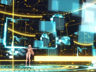 3D MMD Angela Balzac in Cyber Thunder Cider