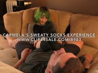 Carmela's Sweaty Socks Experience - DreamgirlsClips.com