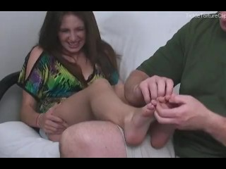 Tickling Autumn's Soft and Smooth Bare Feet