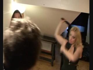 Mistress Alexandra + Jane Croft Flogging British Businessman (Cfnm Femdom)