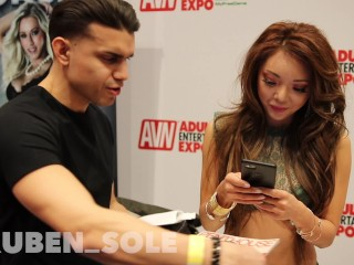 Getting Personal With Ayumi Anime @ AVN 2018 IN LAS VEGAS!