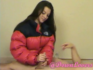 Alexis Venton's Red Puffy Jacket Handjob