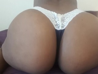 Ayla Snaps - Booty Shaking in my Blue and White Thong for Rosiz
