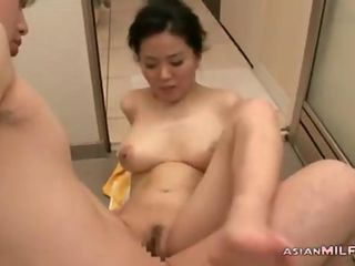 Busty Asian Milf turns into a cougar