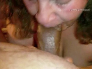 Granny Lynne Lies to Hubby Then Swallows My Cum