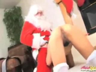 horny asian wants to fuck santa