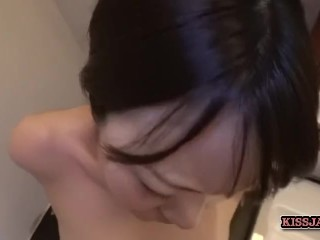 Guiding my japanese wife how to fuck well