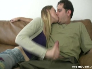 Awesome Handjob with Kissing