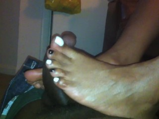 Captain Hook Oreo Black And White Cookie Toes Footjob