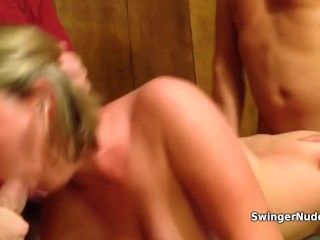 Wife Gets Passed Around At A Swinger Party