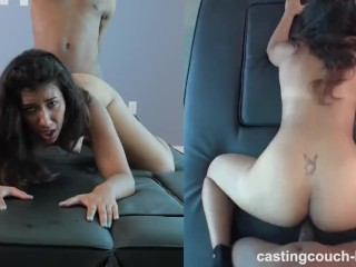 Good looking Brown Female with a Nice ass gets fucked on Couch Casting HD