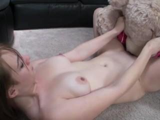 Bella Starr rides teddy bear