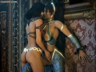 Kitana and mileena 1