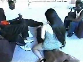 japanese girl gangbang with black guys