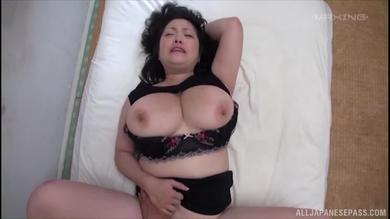Seductive big tits Jap milf banged POV missionary