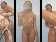 Ayla - Smoke and Cum in the Shower