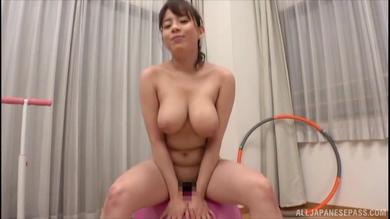 Delicious curvy Japanese with big tits teasing