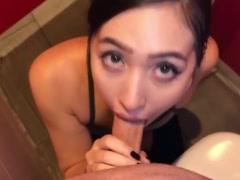 Cock sucking in public toilet