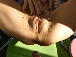 hot girl extreme multi outdoor squirt non stop on hard cock pov