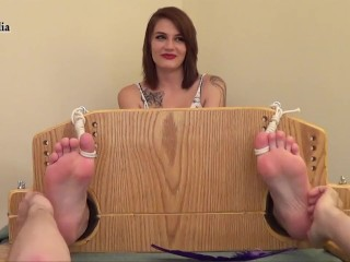 RooksMediaFetish - Anjas First Time Stocked and Foot Tickled