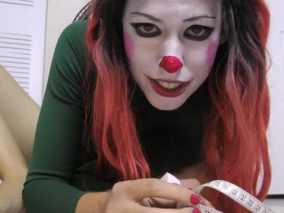 Sexy Clown Girl shows off how Big her feet are