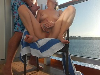 Nude on Cruise Balcony Caught