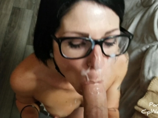 CplNextDoor - Wifey big load facial,cum in glasses, 4K UHD
