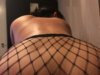 POV Cali Filipino soaking and dripping wet IN FISHNETS riding dick. BEST 1