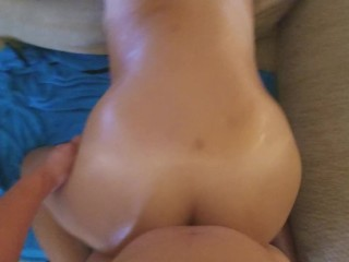 First time anal popping her brazilian anal cherry with my asian cock AMWF