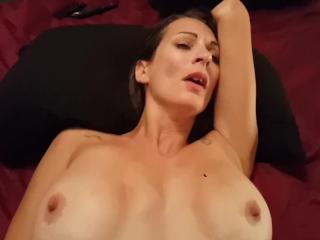 Sexy thin amateur inked Milf - BJ Fucking Creampie - Striptease Lydia Luxy