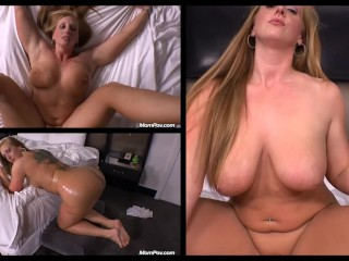 big, tall, sexy BBW with long red hair Angie gets naked and fucks