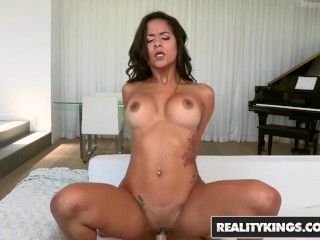 Reality Kings - Abby Lee Brazil gets fucked while his friend fils