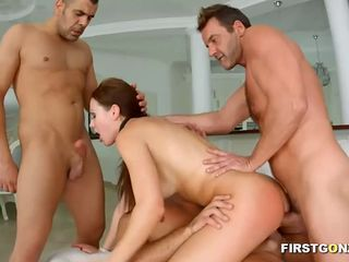 Gangbang with creampie