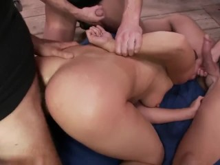 Brutal BDSM Double Penetration Gangbang!-- bbwhdmilf.com