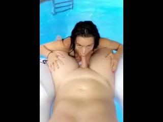 Lana Rhoades Fucked In Public Pool Leaked Premium Snapchat Show