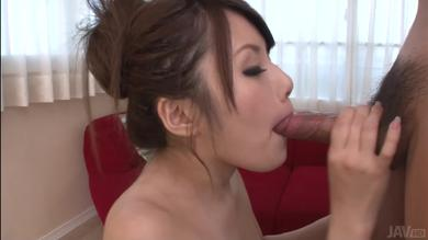 Beautiful Asian babe Ruya Ayase gives the perfect blowjob