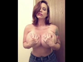 Brittany Elizabeth playing with boobs