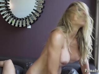 Puma Swede Big Tit Blonde MILF Pussy Fucking