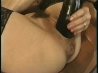 Colette Sigma masturbation, huge dildo and bottle insertion