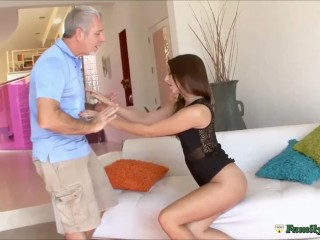 Teen Whore Fucking Older Man To Escape Punishment