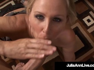 Office Milf Julia Ann Sucks On Her Co Worker's Cock At Work!