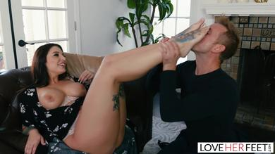 LoveHerFeet - Busty Brunette Ivy Lebelle Gets Plugged By The Cable Guy