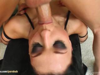 Bukkake blowbang scene with Aletta Ocean from Cum For Cover