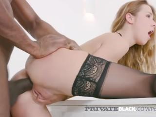 PrivateBlack - Blonde Alexis Crystal Fucks 4 Black Stallions