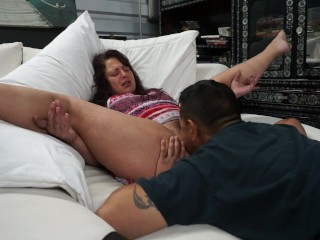 Eating her wet vagina the fuck out